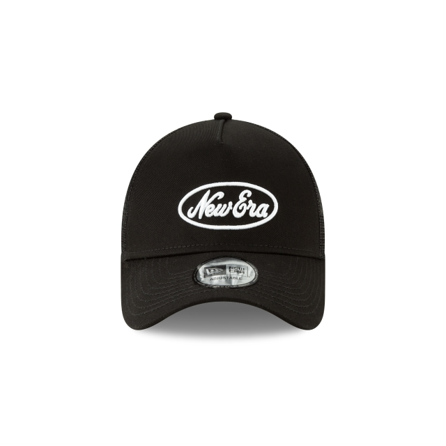 Gorra De New Era Scrip Trucker Negra 9forty Af Strapback | Ne Script Truck Caps | New Era Cap