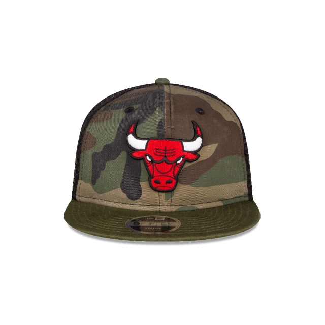 Chicago Bulls Washed Camo Niño 9FIFTY Snapback | Gorras de Chicago Bulls | New Era México