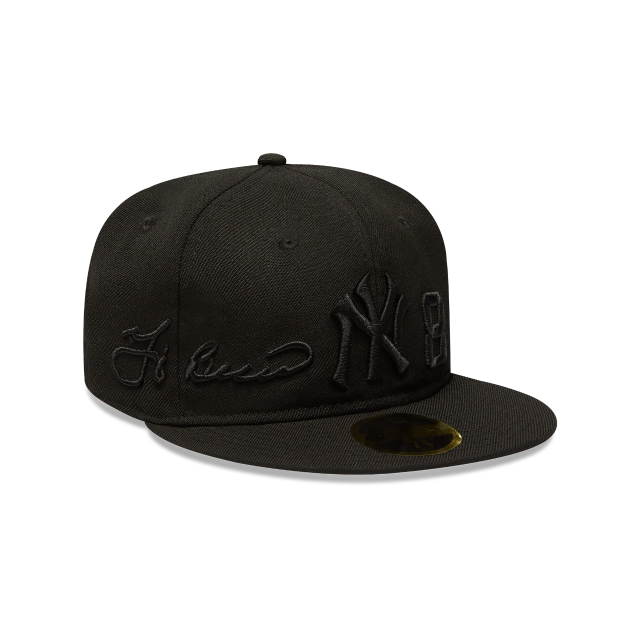 Gorra De New York Yankees Hall Of Fame Yogi Berra Black On Black 59fifty Rc Cerrada | New Era Cap
