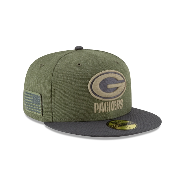 Green Bay Packers Nfl Salute To Service 2018  59fifty Cerrada | Green Bay Packers Caps | New Era Cap
