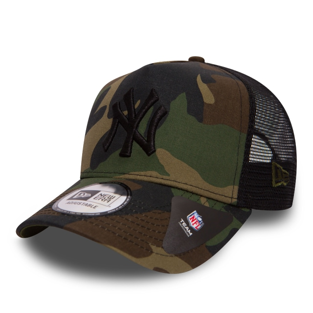 New York Yankees Camo Team  9forty Af Trucker Strapback | New York Yankees Caps | New Era Cap