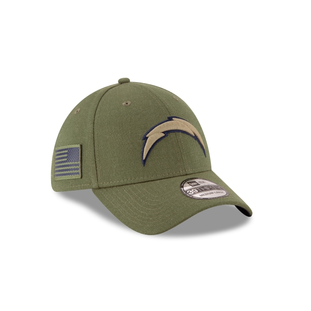 Los Angeles Chargers Nfl Salute To Service 2018  39thirty Elástica | Los Angeles Chargers Caps | New Era Cap