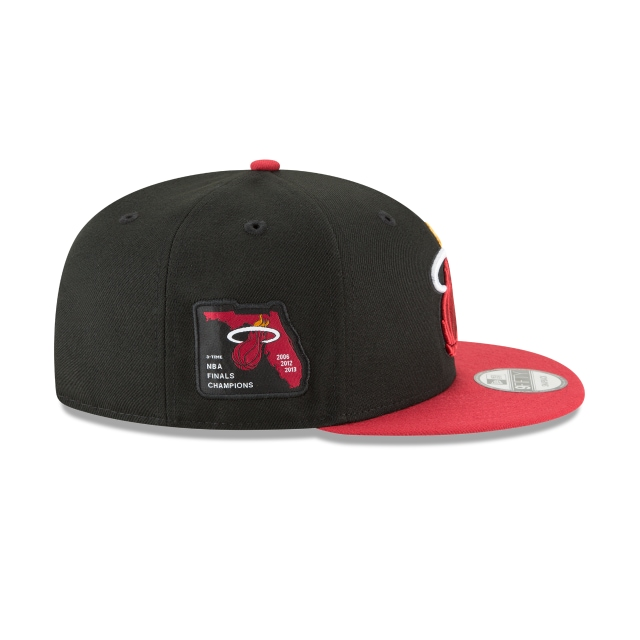 Miami Heat Side Stated  9fifty Snapback | Miami Heat Caps | New Era Cap