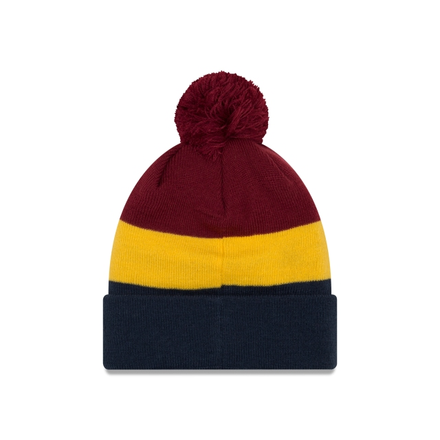 Cleveland Cavaliers Triblock Pom  Knit | Cleveland Cavaliers Caps | New Era Cap