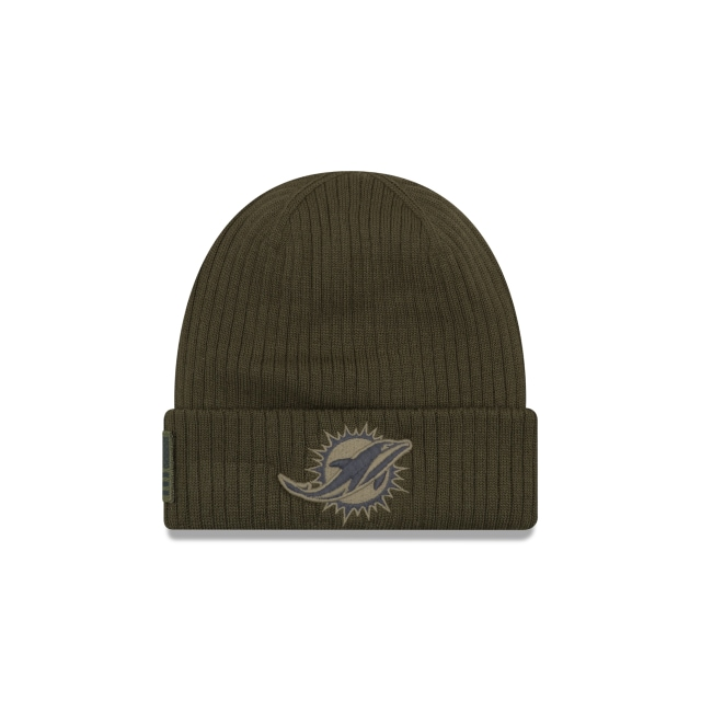 Miami Dolphins Nfl Salute To Service 2018  Knit | Miami Dolphins Caps | New Era Cap