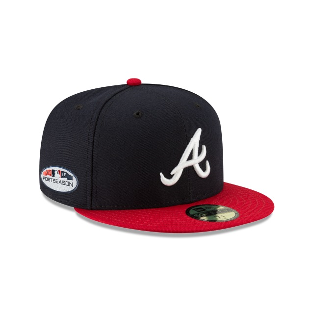 Atlanta Braves Authentic Collection Parche Postseason 2018 59fifty Cerrada | Atlanta Braves Caps | New Era Cap