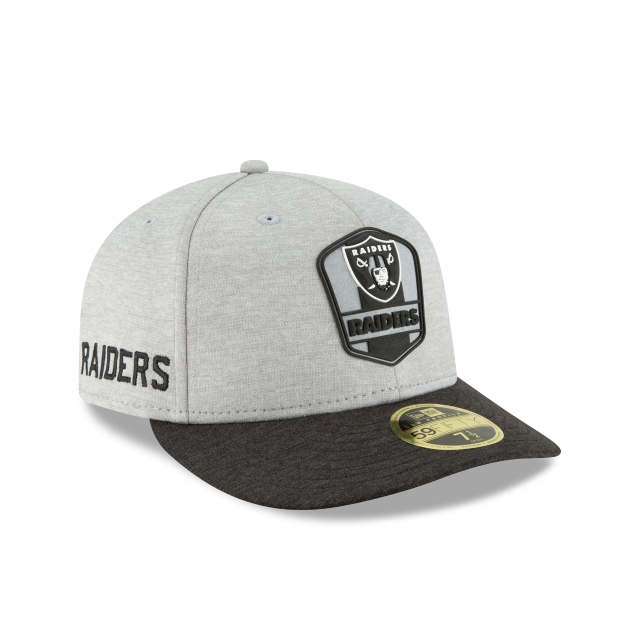 Oakland Raiders NFL Sideline Attack 59FIFTY LP Cerrada | Gorras de Las Vegas Raiders | New Era México