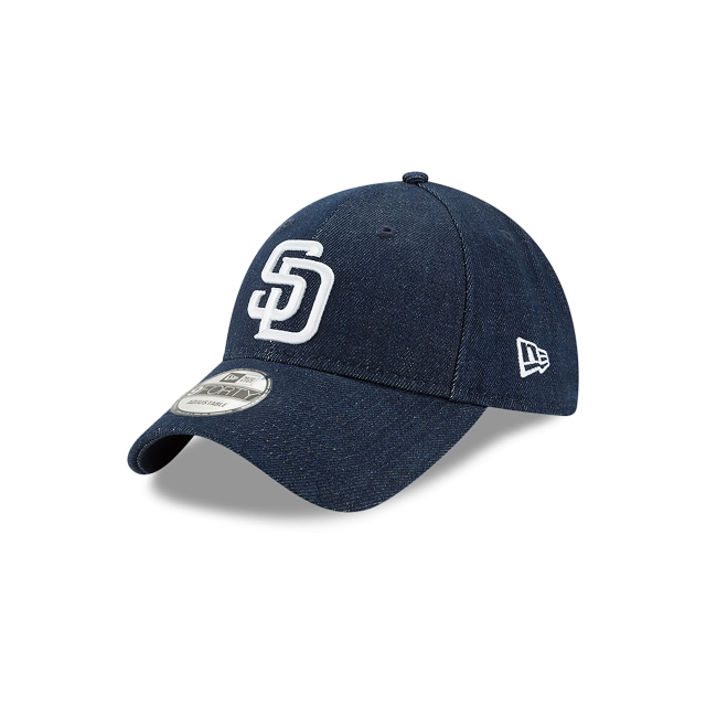 San Diego Padres Denim Dark  9forty Strapback | New Era Cap