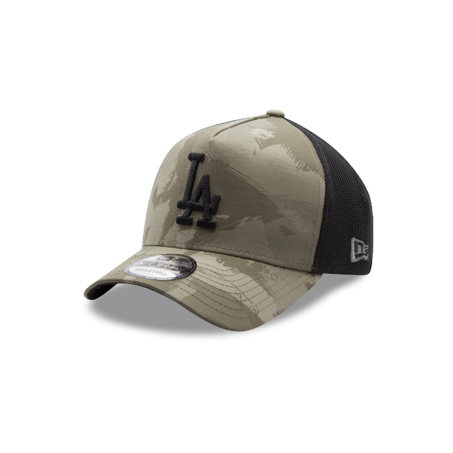 Los Angeles Dodgers Camo Basics  9forty Af Trucker Strapback | New Era Cap