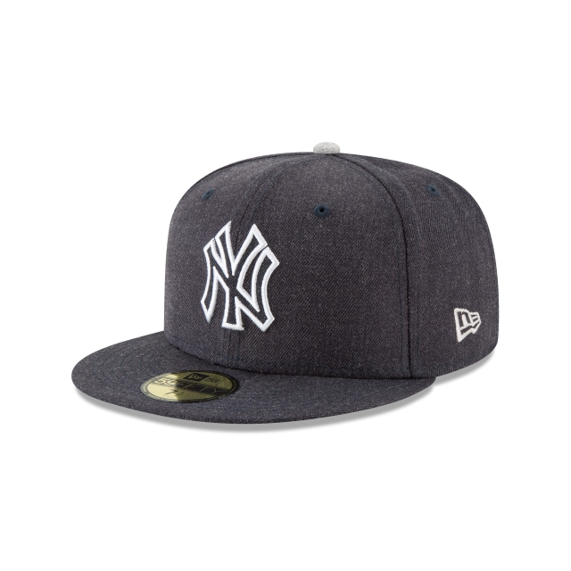New York Yankees Heather Hype Fit  59fifty Cerrada | New Era Cap