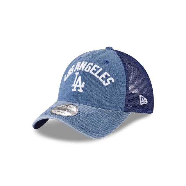 Los Angeles Dodgers Rugged Team  9twenty Trucker Strapback | New Era Cap