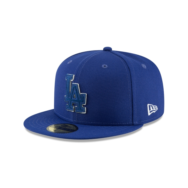 Los Angeles Dodgers Suede Patcher  59fifty Cerrada | New Era Cap