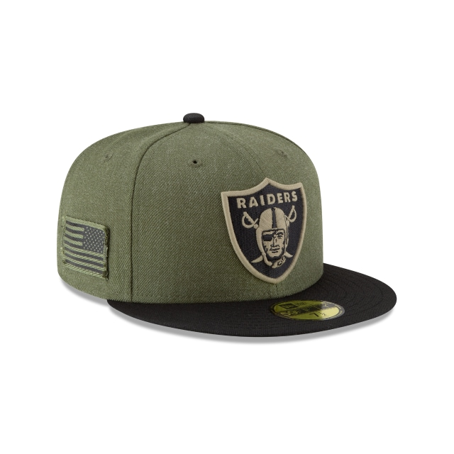 Oakland Raiders Nfl Salute To Service 2018  59fifty Cerrada | Oakland Raiders Caps | New Era Cap
