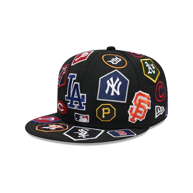 MLB Multi Team All Over 59FIFTY Cerrada Negra | Gorras de Arizona Diamondbacks | New Era México