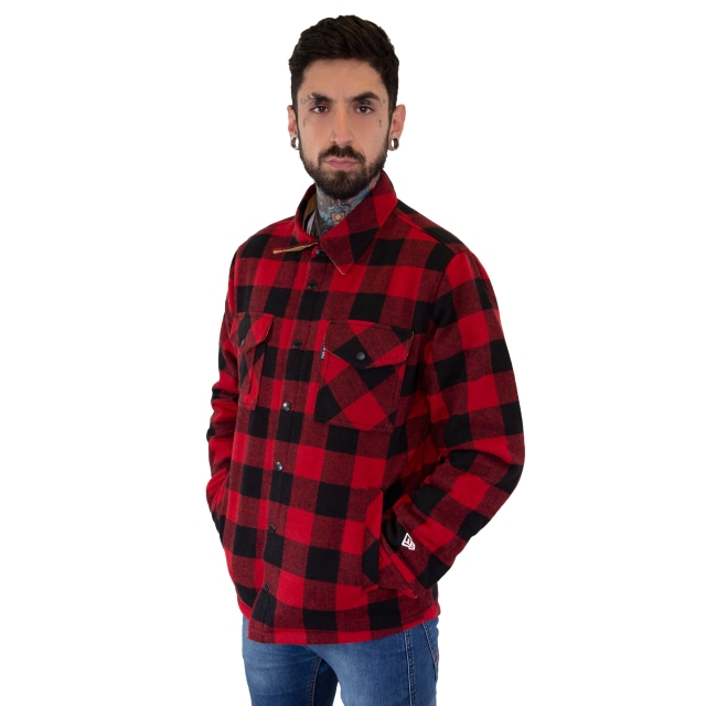 Chamarra New Era Plaid Thinsulate Roja | New Era Branded | New Era México