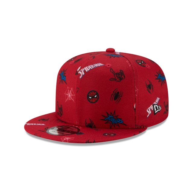 Spiderman & Black Spiderman Power Couples  9fifty Snapback | Pwrcouple 950scatter Caps | New Era Cap