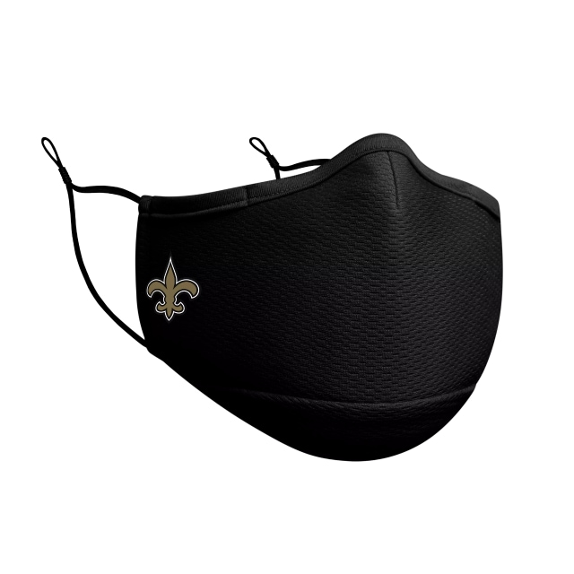 New Orleans Saints Cubrebocas Negro  NFL Sideline | New Orleans Saints Cubrebocas | New Era México