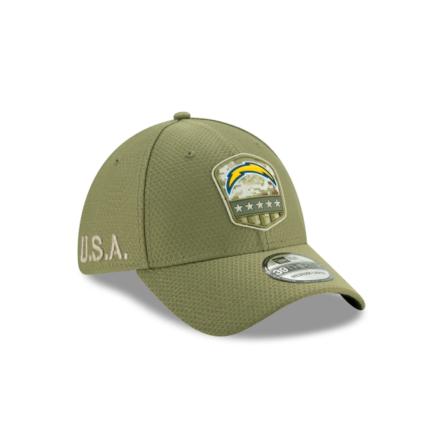 Los Angeles Chargers Nfl Salute To Service 2019  39thirty Elástica | Los Angeles Chargers Caps | New Era Cap