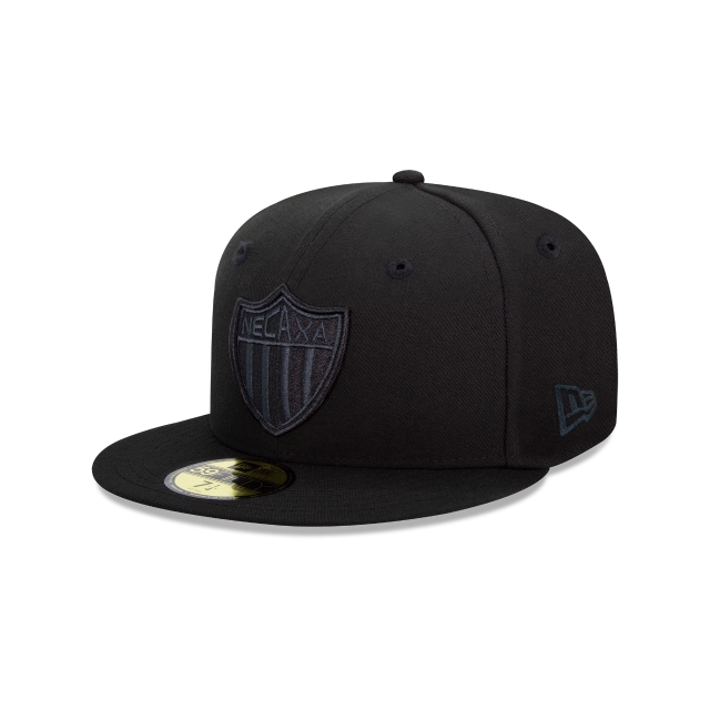 Rayos Del Necaxa Basics Black On Black  59fifty Cerrada | New Era Cap
