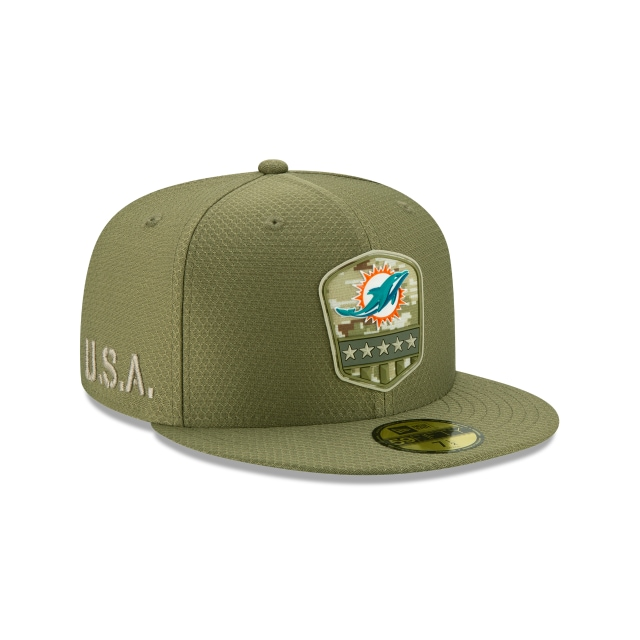 Miami Dolphins Nfl Salute To Service 2019  59fifty Cerrada | Miami Dolphins Caps | New Era Cap