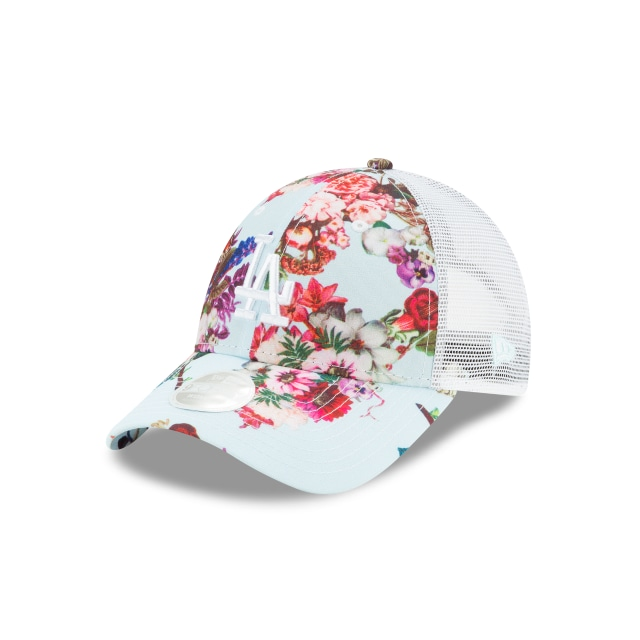 Los Angeles Dodgers Mlb Floral Para Mujer 9forty Trucker Strapback | New Era Cap